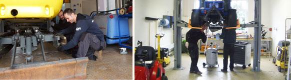 Professionelle Wartung und Reparaturen von Gartentechnik und Baumaschinen